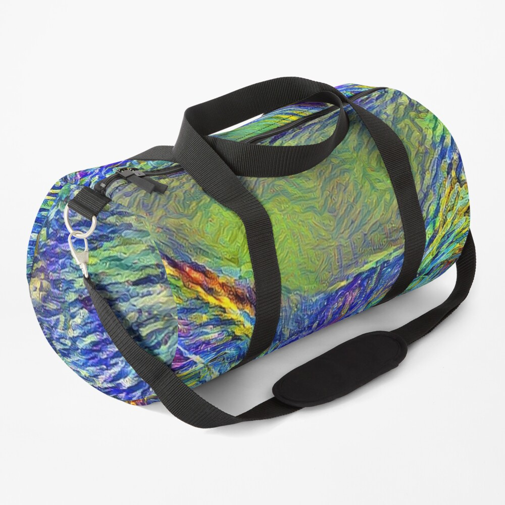 Artificial neural style Post-Impressionism cat Duffle Bag