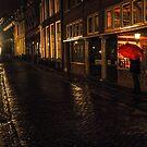 Night Lights of Utrecht. Orange Umbrella. Netherlands by JennyRainbow