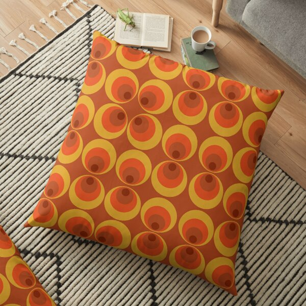 Funky 70's Vibes Floor Pillow