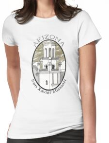San Xavier Mission East Tower Womens Fitted T-Shirt