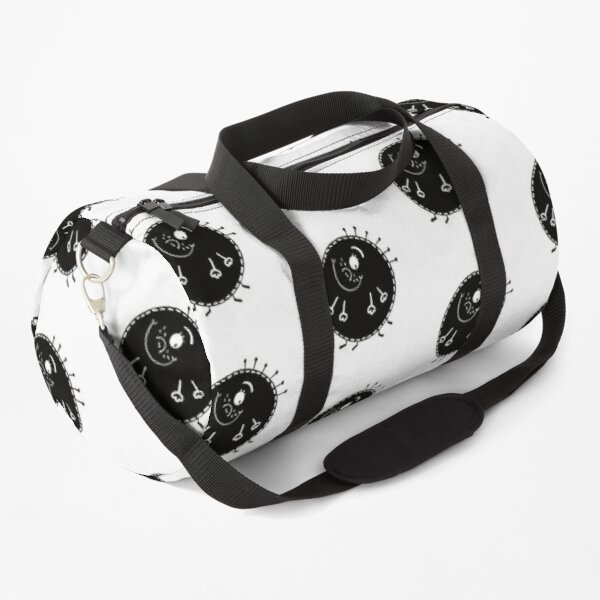Funny black and white creature nr21 Duffle Bag