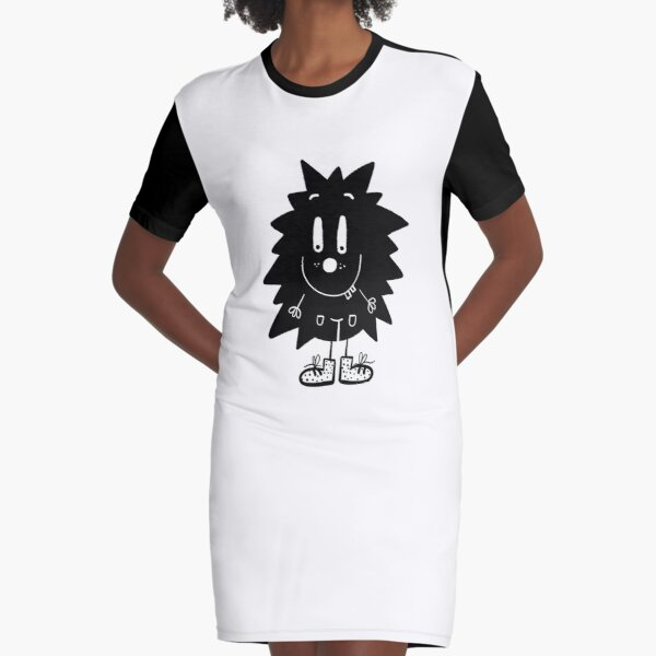 Funny black and white creature nr22 Graphic T-Shirt Dress