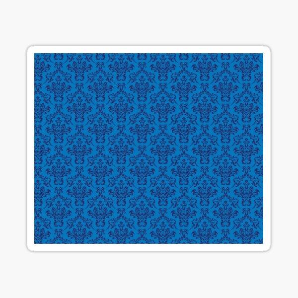 Blue Vintage Damask Pattern Sticker