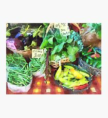 Farmer's Market - Peppers and String Beans Photographic Print
