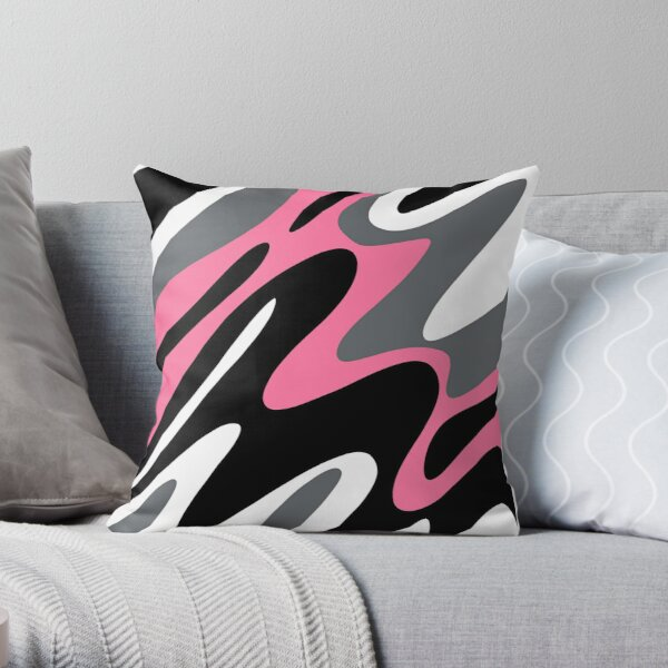 Go With the Flow Abstract Pattern Throw Pillow