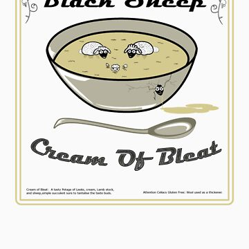 Black Sheep Cream Of Bleat by Chefleclef
