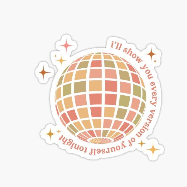 taylor swift folklore sticker - mirrorball Sticker