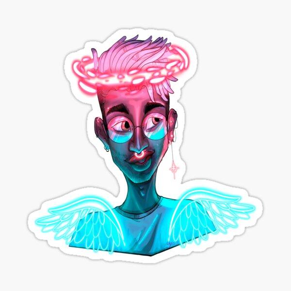 Neon angel Sticker