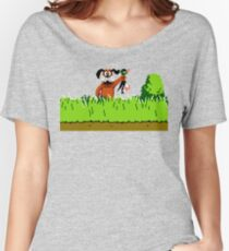 Duck Hunt Dog with Duck Women's Relaxed Fit T-Shirt