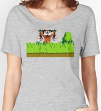 Duck Hunt Dog with 2 Ducks Women's Relaxed Fit T-Shirt