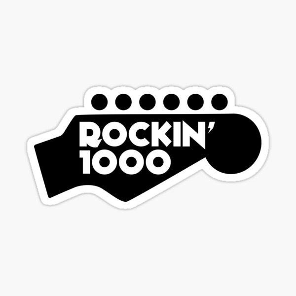 Rockin'1000 Black Logo Original Sticker