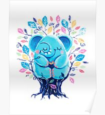 Hiding Place - Rondy the Elephant Sitting In a Tree Poster