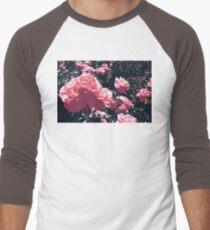 Pink Roses Men's Baseball ¾ T-Shirt