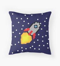 Space Rocket Adventure Throw Pillow