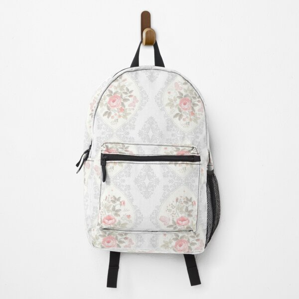 Vintage Shabby Chic Rose Pattern Backpack
