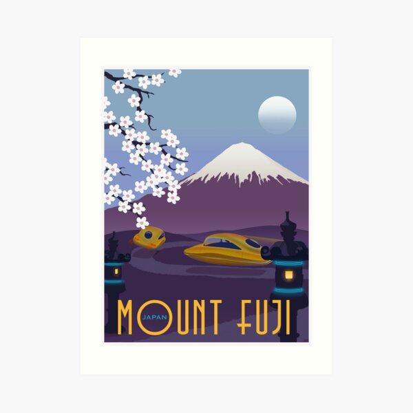 Race to Mount Fuji Art Print