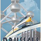 See Brussels and Europe by Rocket Train by stevethomasart
