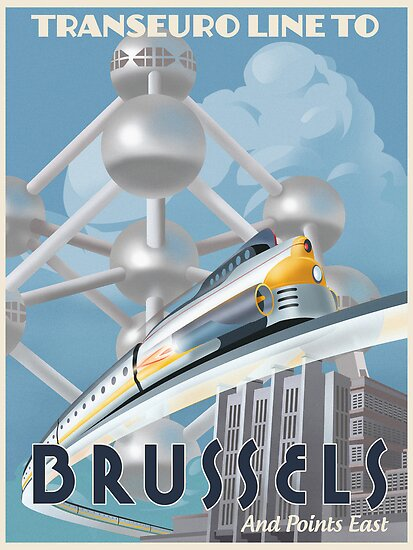 See Brussels and Europe by Rocket Train von stevethomasart