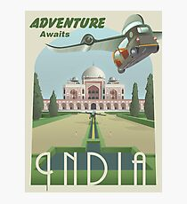 Adventure Awaits in India Photographic Print