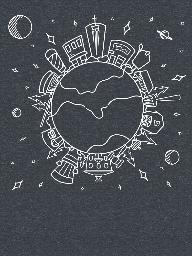 On Top of the World Line Art | Big Things Small Town by CaseyIllinois