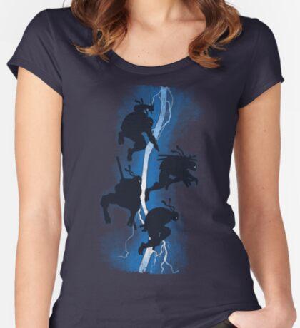 The dark ninja return Women's Fitted Scoop T-Shirt