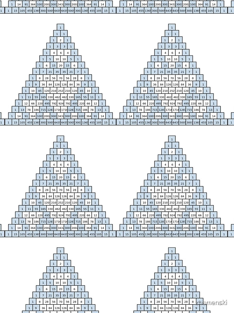 Math-based images in everyday children's setting lay the foundation for subsequent mathematical abilities. Pascal's Triangle,  треугольник паскаля, #PascalsTriangle,  #треугольникпаскаля by znamenski