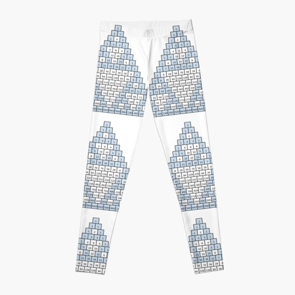 Math-based images in everyday children's setting lay the foundation for subsequent mathematical abilities. Pascal's Triangle,  треугольник паскаля, #PascalsTriangle,  #треугольникпаскаля Leggings