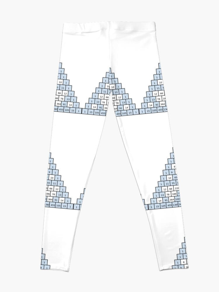 Alternate view of Math-based images in everyday children's setting lay the foundation for subsequent mathematical abilities. Pascal's Triangle,  треугольник паскаля, #PascalsTriangle,  #треугольникпаскаля Leggings
