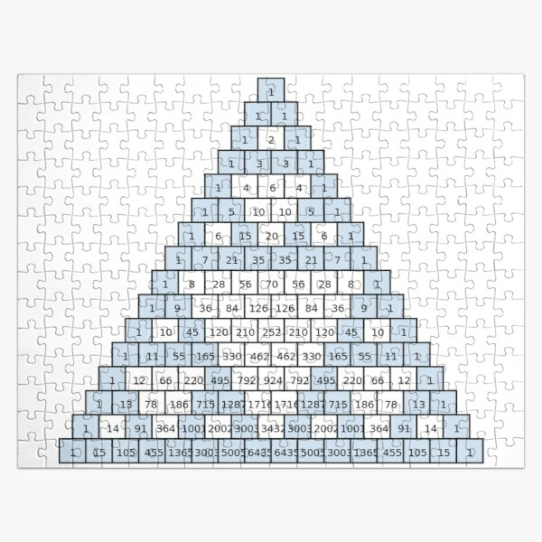 Math-based images in everyday children's setting lay the foundation for subsequent mathematical abilities. Pascal's Triangle,  треугольник паскаля, #PascalsTriangle,  #треугольникпаскаля Jigsaw Puzzle