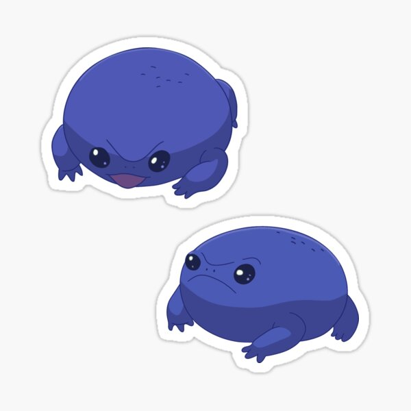 'squish' frog sticker from my future billie eilish Sticker
