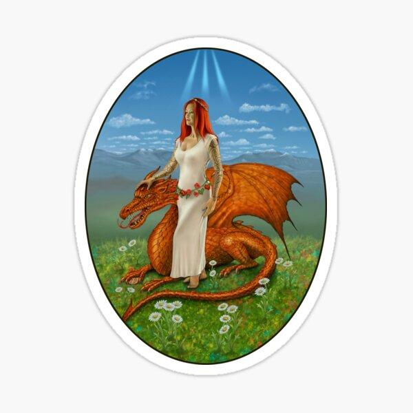 Strength from the Celtic Tarot Sticker