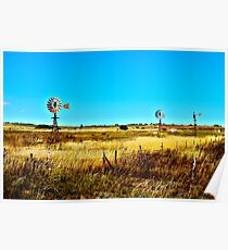 Country Landscape HDR Poster