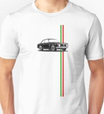 Alfa Romeo Giulia Sprint GTA with Italian flag stripe Unisex T-Shirt