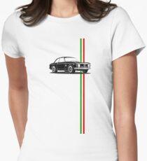 Alfa Romeo Giulia Sprint GTA with Italian flag stripe Women's Fitted T-Shirt