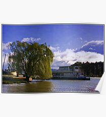 A stromy day at Lake Burley Griffin Poster