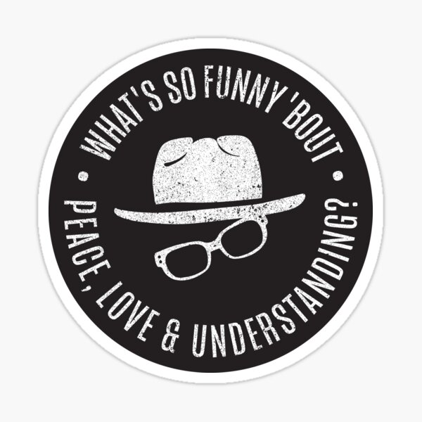 Peace, Love and Understanding - Elvis Costello Sticker