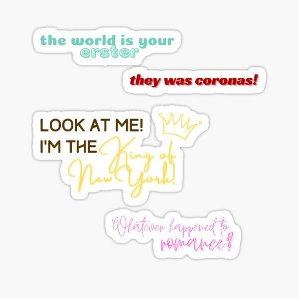 Race Quotes Sticker Pack Sticker
