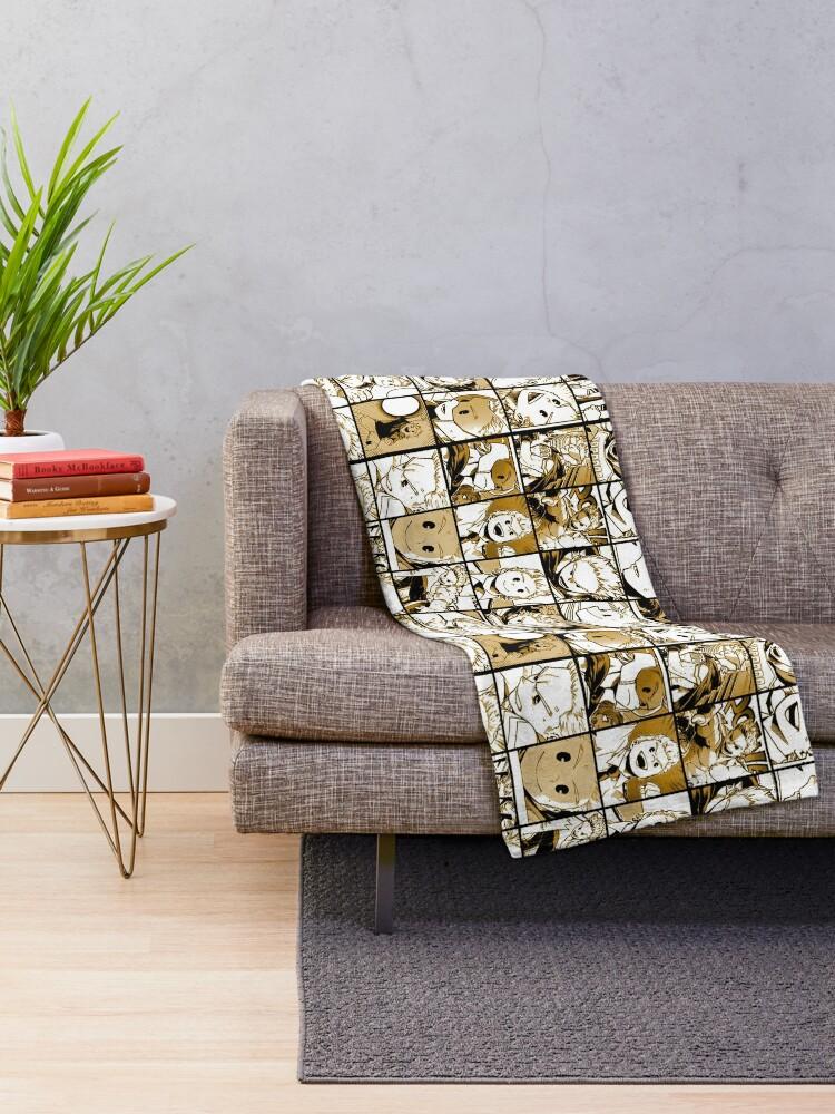 Alternate view of Mirio Togata Collage color version Throw Blanket
