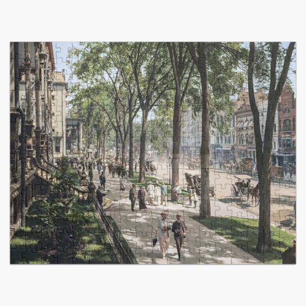 Broadway in Saratoga Springs, New York, ca 1915 (full size) Jigsaw Puzzle