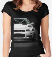 Camiseta entallada de cuello redondo El Nissan Skyline R34 GTT de Mat Wootten