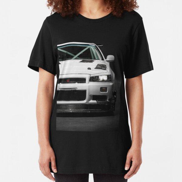 Mat Wootten's Nissan Skyline R34 GTT Slim Fit T-Shirt