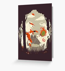Great Wolves of Fire (Featured on Teefury) Greeting Card