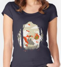 Great Wolves of Fire (Featured on Teefury) Women's Fitted Scoop T-Shirt