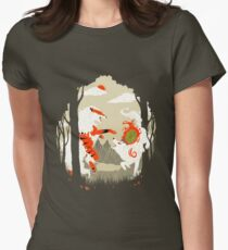 Great Wolves of Fire (Featured on Teefury) Women's Fitted T-Shirt