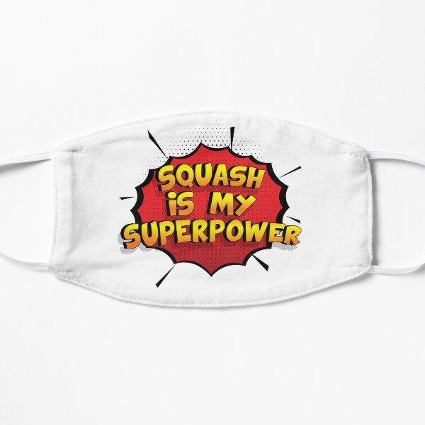 Squash ist mein Superpower Lustiges Squash Designgeschenk Flache Maske