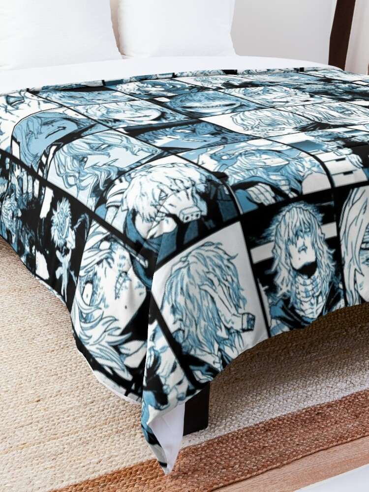 Alternate view of Shigaraki Collage (color version) Comforter