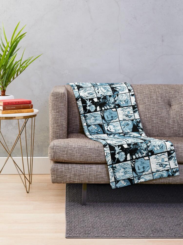 Alternate view of Shigaraki Collage (color version) Throw Blanket