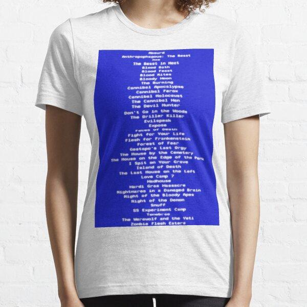 The DPP39 Video Nasties Essential T-Shirt