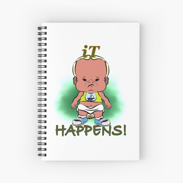 PBTEEZ RB0086 iT happens boy 6 Spiral Notebook