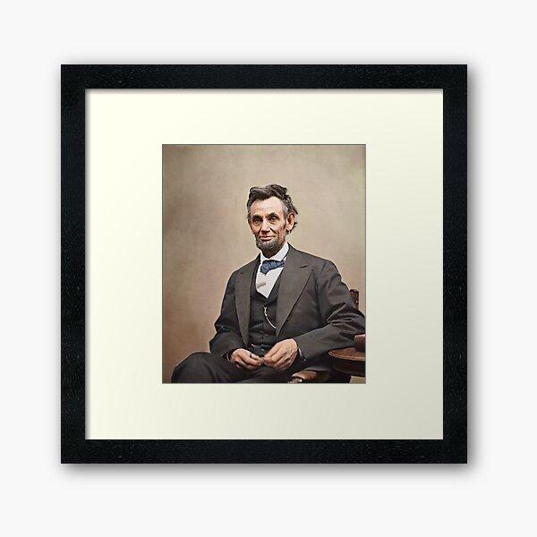 Colorized  - Abraham Lincoln Framed Art Print
